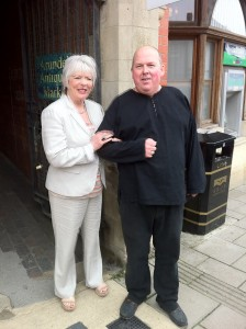 Actress Alison Steadman with David Mattey Celebrity Antiques Road Trip